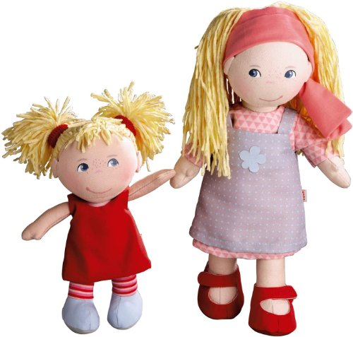 Toys Doll Haba (HABA Lennja & Elin Sisters - 12 inch and 8 inch Soft Doll Pair)