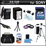 32GB Accessory Kit For Sony HDR-PJ710V, HDR-PJ760V, HDR-CX760V High Definition Camcorder Includes 32GB High Speed SD Memory Card + Replacement (2300Mah) NP-FV70 Battery + Ac/Dc Charger + Case + Tripod + 3PC Filter Kit (UV-CPL-FLD) + Mini HDMI Cable + More