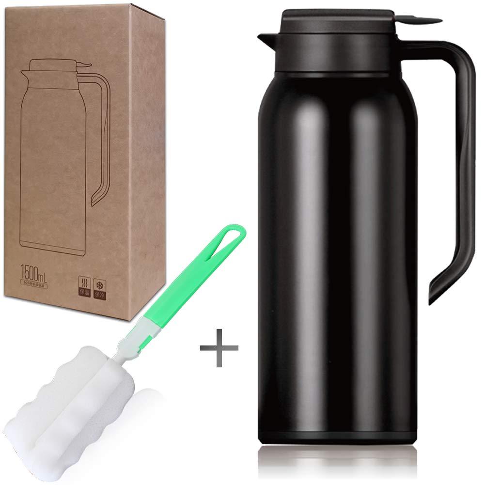 NORTHOME Thermal Carafes For Coffee Vacuum Mug 1.5 Liter or 50oz (50-OZ, Black)
