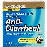 GoodSense Anti-Diarrheal, 2 mg Loperamide HCl Tablets, 12 Count