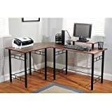 Durable Wrap Espresso Finish Computer Desk, Brown TMS