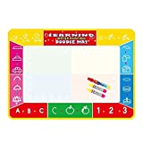 ABBBT Extra Large Water Drawing Doodle Mat, Reusable, No Chemicals, No Mess, Paint with Water, Doodle Board, Educational Toy for Kids, 3 Magic Pens Included,Doodle Pad,27.5 by 39 Inches … (A)