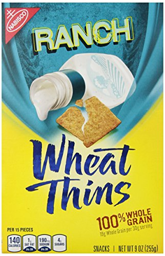 Wheat Thins Whole Grain Crackers - Ranch - 9.00 Ounces