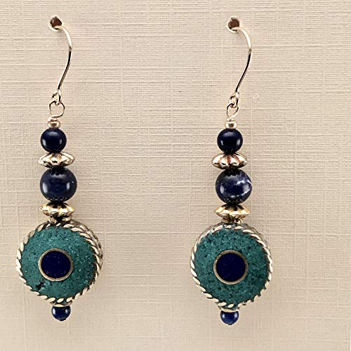 handmade Inlaid Bead Lapis in 14KT Gold Filled