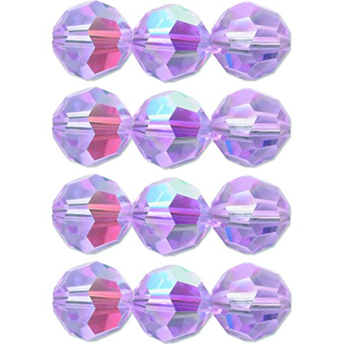 12 Alexandrite AB Round Made With Swarovski Crystal Beads 4mm New