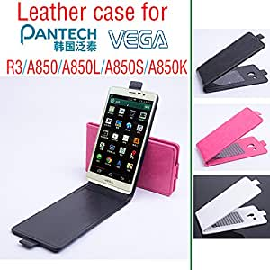 Cell Buddy For Pantech VEGA R3 A850 A850L A850S A850K Case, New High Quality Genuine Filp Leather Cover Case 3 Color In Stock --- Color:Rose