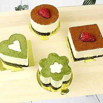 AaaSue - Juego de 4 anillos de acero inoxidable para tartas ...
