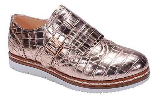 Loafer Oxford Breeze Flatform Gold Rose Croc Wingtip Embossed Women's Shoe Nature UYtwAq0U