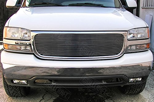 GrillCraft GMC2012-BAC BG Series Polished Aluminum Upper 1pc Billet Grill Grille Insert for GMC Sierra Yukon Gmc Sierra Denali Grille Insert