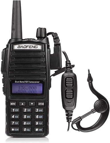 BaoFeng UV-82L Two Way Radio-Dual Band 136-174 MHz VHF 400-520 MHz UHF Amateur Ham Portable Two-Way Radio Black