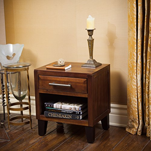 Christopher Knight Home 295293 Luna Acacia Wood Night Stand,