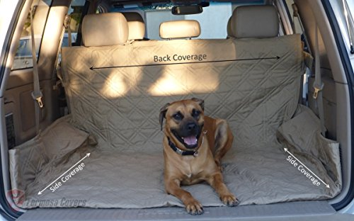 Deluxe Quilted and Padded Cargo Liner Taupe - One Size Fits