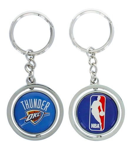 (NBA Oklahoma City Thunder Spinning Logo Key Ring )