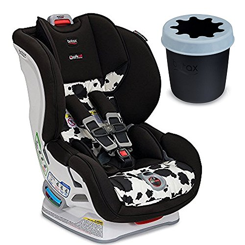 Britax USA Marathon ClickTight Convertible Car Seat, Cowmooflage & Convertible Child Cup Holder, Black