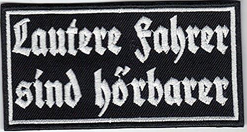 Lautere Fahrer sind h/örbarer Motorrad Biker Streetfigther Aufn/äher Patch Abzeichen