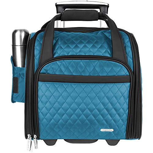 Traveler Purse Handbag Quilted (Travelon Wheeled Underseat Carry-On Bag 14