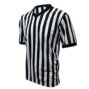 Winners Sportswear Official V-Neck Striped Referee Jersey (Medium (Adult))