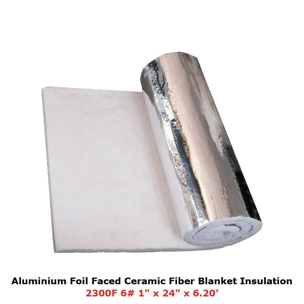 1 Aluminium Foil Faced Ceramic Fiber Blanket Insulation 6# 2300F 24 x 6.20' Simond Fibertech Limited