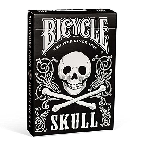 - Bicycle Skull Poker Size Standard Index Playing Cards