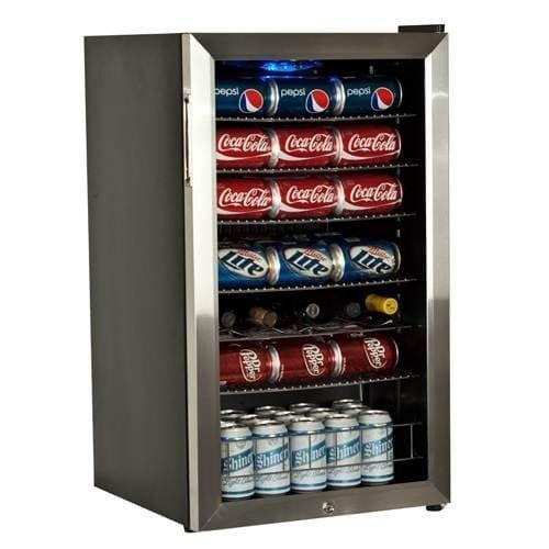 Countertop Locking Glass Door Beverage Refrigerator Display Cooler