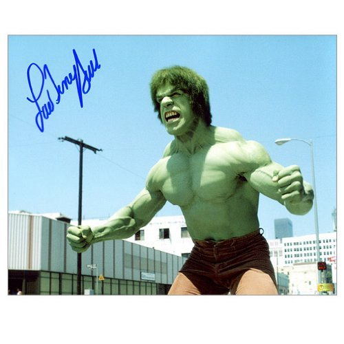 Lou Ferrigno Autographed 8x10 The Incredible Hulk Scene Photo by Celebrity Authentics