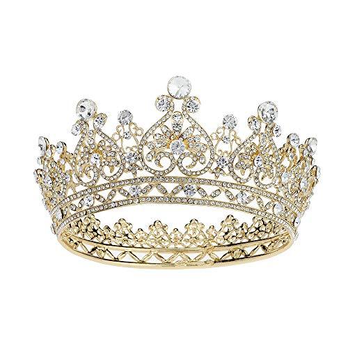 Royal Wedding Crown Crystal Tiara for Women Girls Bridal Headpiece Pageant Birthday Hair Jewelry -