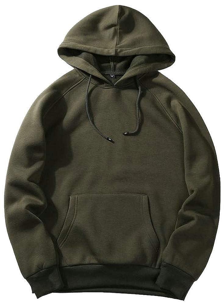Joe Wenko Men Drawstring Running Pocket Pullover Hooded Sweatshirts