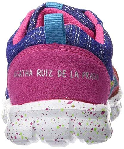 Agatha Ruiz de la Prada 161966-A - Zapatillas para niñas, color Azul (Rejilla), talla 24 EU
