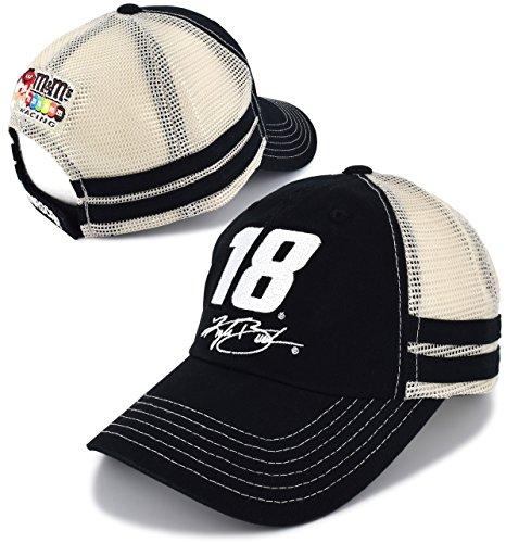 Kyle Busch Cotton - Kyle Busch #18 Nascar 2018 Vintage Trucker Mesh Hat / Cap