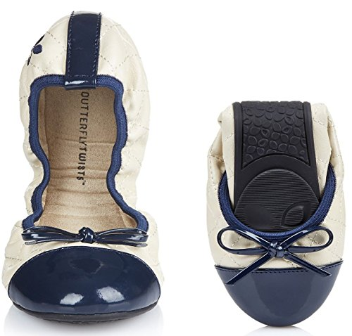 Butterfly Twists Olivia Cream Marina Donna Ballerinas Flats SliponsScarpe