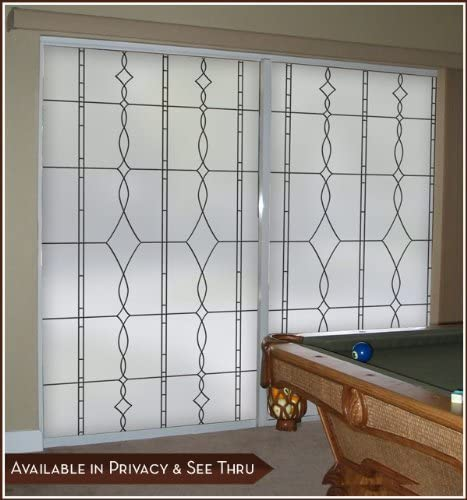 Allure Black Leaded Glass Privacy Static Cling Window Film – 32 x 86