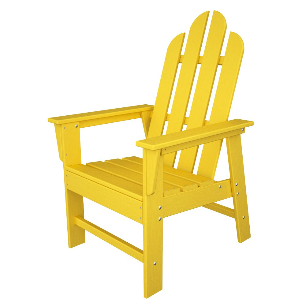 Amazon POLYWOOD ECD16LE Long Island Dining Chair Lemon Adirondack Chairs Patio Lawn Garden