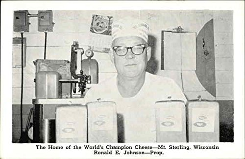 Mt. Sterling Cheese Factory - Johnson's World Champion Cheddar Cheese Original Vintage Postcard ()