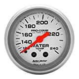 Auto Meter 4333 Ultra-Lite Mechanical Water Temperature Gauge