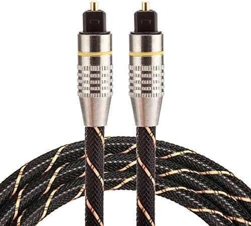 DIYオーディオおよびビデオケーブル用オーディオアダプターオーディオケーブル、小型、軽量、持ち運びが 1メートルOD6.0mmゴールドメッキメタルヘッド織ネットライントスリンク男のデジタル光オーディオケーブルへの男性、小型、軽量で持ち運びが簡単