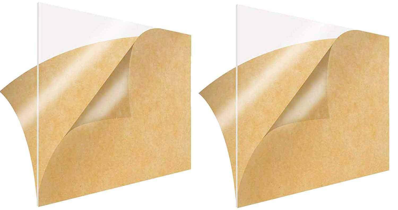 2 Pcs Acrylic Sheet Clear Cast Plexiglass12