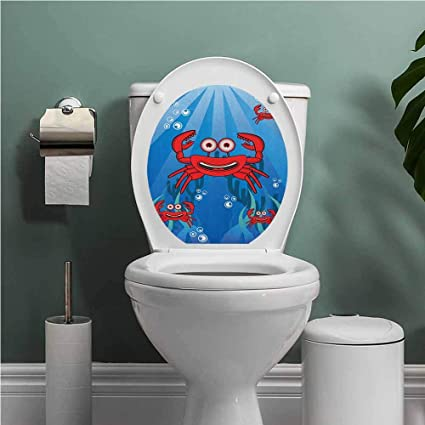 Miraculous Amazon Com Auraise Heybee Crabs Toilet Seat Tattoo Cover A Lamtechconsult Wood Chair Design Ideas Lamtechconsultcom