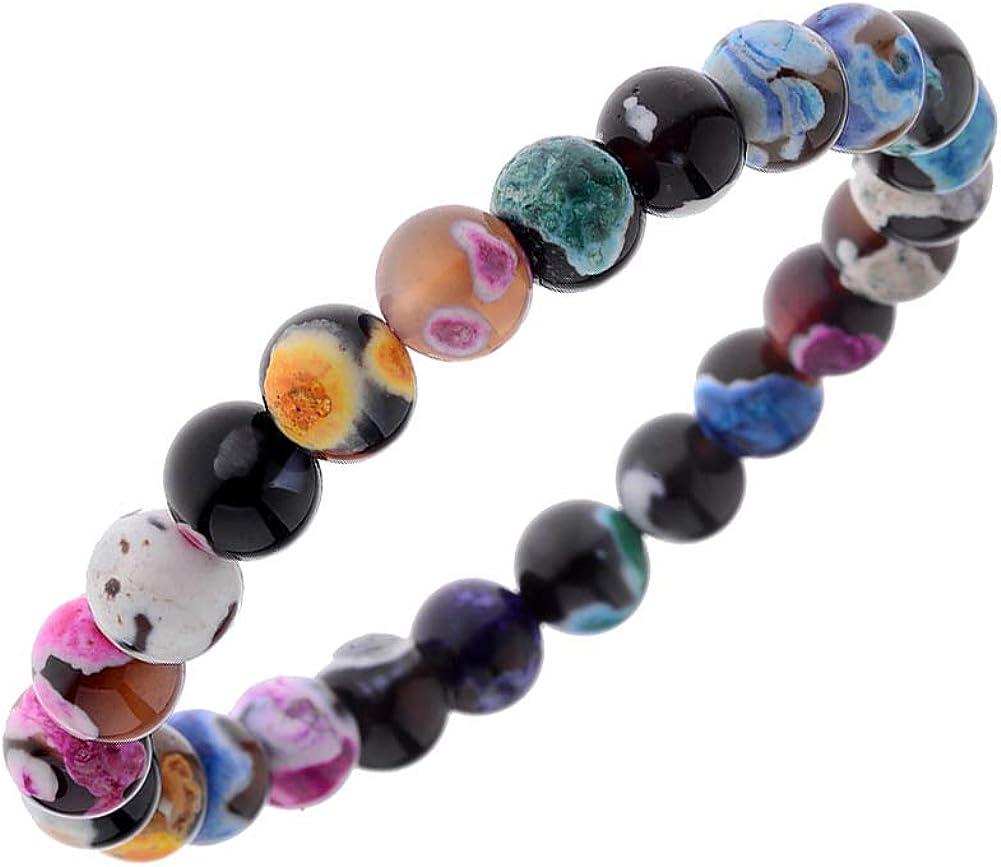 aiuin pulsera de piedra natural estilo de modelo acuarela coloré pulsera regalo mujer cadena joyas muñecas decoración regalo cumpleaños Navidad San Valentín