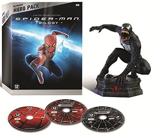 Spider-Man Trilogy (Ultimate Hero Pack) - 3-Disc Box Set & Venom Figurine ( Spider-Man / Spider-Man 2 / Spider-Man 3 ) ( Spider-Man / Spider-Man Two / Spide [ Blu-Ray, Reg.A/B/C Import - Netherlands ]