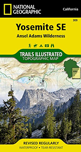 Yosemite SE: Ansel Adams Wilderness (National Geographic Trails Illustrated Map)