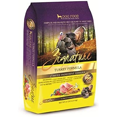 Zignature 27 LB, Turkey Formula Dry Dog Food. Grain Free, Naturally Hypoallergenic Dog Food. Great for Sensitive Stomachs.