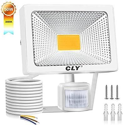CLY 50W Foco LED Proyector,5000 Lúmenes de focos LED Exterior,IP66 ...