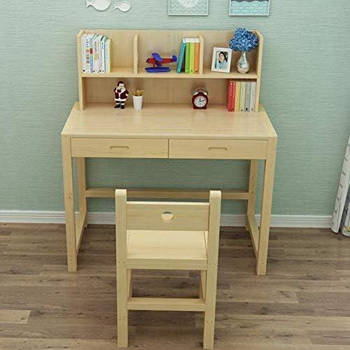 学習机セット アートプロジェクトのための子供の昇降テーブル調節可能デスクコンビネーション調査表ソリッドウッドコンピュータテーブルシンプルな家具テーブル、ゲーム 子ども用テーブル (Color : Natural, Size : 100x50x120)
