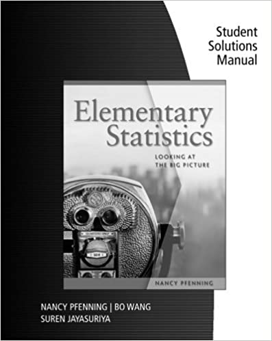 Amazon student solutions manual for pfennings elementary student solutions manual for pfennings elementary statistics looking at the big picture 1st edition fandeluxe Gallery