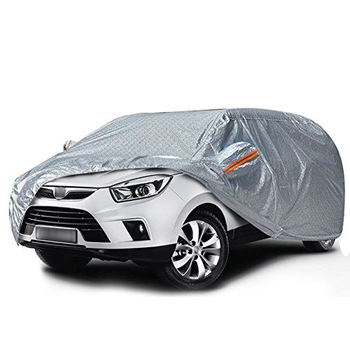 - YITAMOTOR SUV Car Cover Breathable Soft Aluminum Full UV Protection Waterproof Windproof Dustproof Scratch Resistant Auto Cover for Outdoor Indoor Use (Fits up to 206