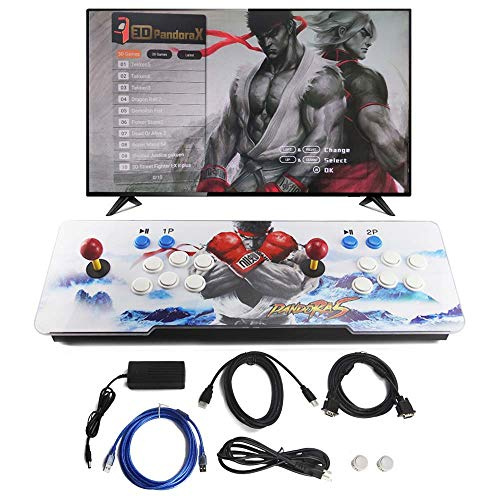 2020 Base Station - SupYaque Pandora Box Retro Arcade Game Console with Latest 3D & 2D System 2020 Games All in 1 Full HD 2 Players Joystick and Buttons Built-in Speaker (2020 in 1)