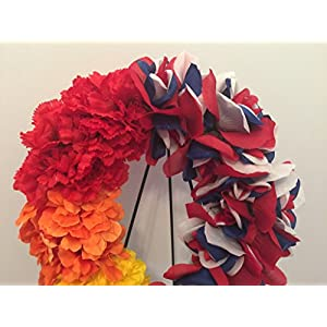 GRAVE DECOR - CEMETERY MARKER - FUNERAL ARRANGEMENT - GAY PRIDE - LGBTQ PRIDE - USA PRIDE - MILITARY PRIDE - PATRIOTIC - RED, WHITE, AND BLUE ROSES AND RAINBOW CARNATIONS, DAISIES AND ZINNIAS 3