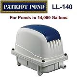 Patriot Air Pump LL-140, 5.3 Cubic Feet Per Minute, Pond Depth To 15 Feet