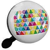 Small Bike Bell Pattern Colorful Triangle and Circles - NEONBLOND