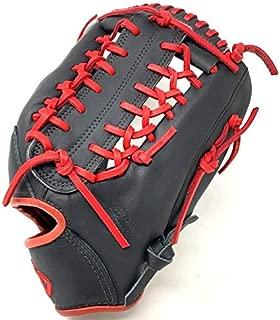 product image for Nokona American Kip 12.75 Baseball Glove Black Red Right Hand Throw